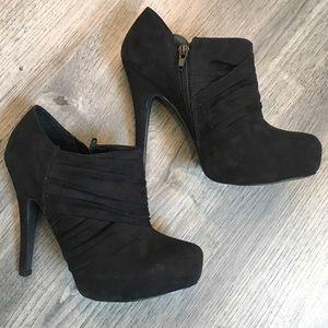 Sexy Black Guess High Heel Booties